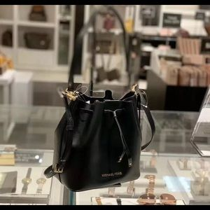 Michael Kors Eden Medium Bucket Bag - Black
